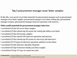 cover letter for supply chain management - top 5 procurement manager cover letter samples
