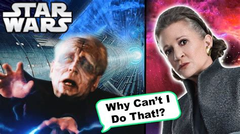 Why Palpatine Cant Fly Like Leia In The Last Jedi To Save