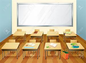 Desk clipart elementary school classroom - Pencil and in ...