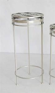 Beistelltisch Silber Rund : beistelltisch joelle rund metall silber h 70 cm pflanzhocker blumentisch ebay ~ Indierocktalk.com Haus und Dekorationen