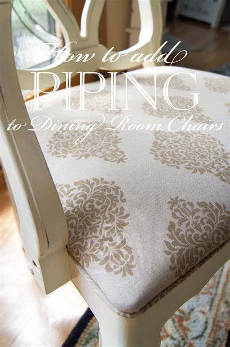 add piping  dining room chairs confessions