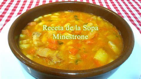 Receta Fácil De Sopa Minestrone