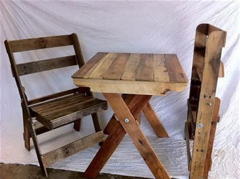 diy pallet folding chairs  table pallets designs