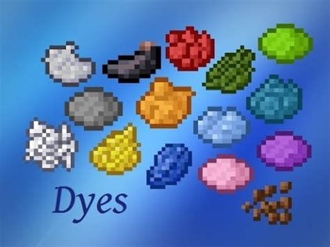 minecraft crafting recipes dyes youtube