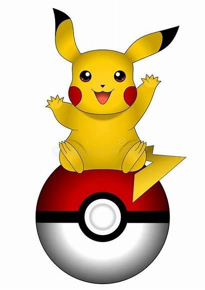 Pikachu Pokemon Background Pokeball Vector Ball Clipart
