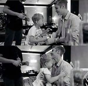 Justin Bieber and Jaxon Bieber