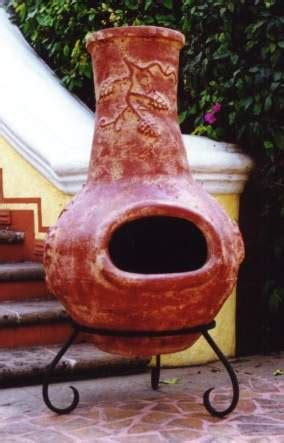 chiminea clay outdoor fireplace mexican outdoor clay chimineas fireplaces
