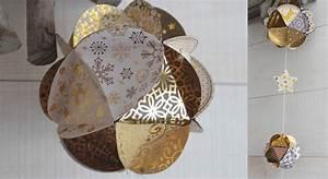 Boule Papier Deco : d co de no l des boules en papier ~ Teatrodelosmanantiales.com Idées de Décoration