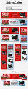 Christmas Holiday Web Banner Advertisment Template