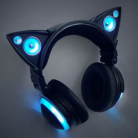 headphones with cat ears cat ear headphones by axent wear brookstone