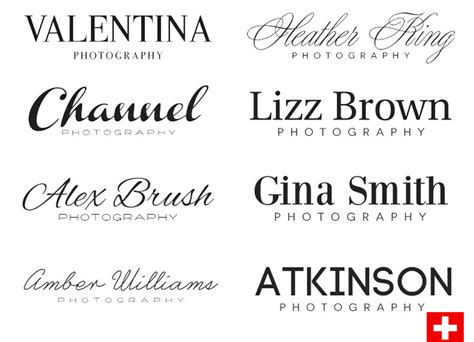 font  logo photography images  fonts