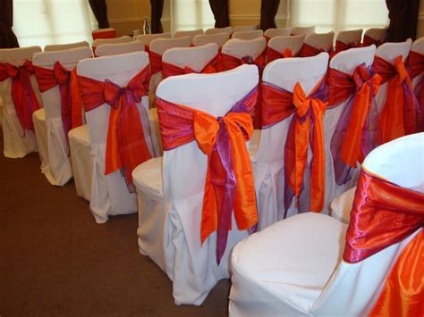 chair sash 2 colors or 1 wedding flowers decoration