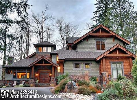 Surprisingly Mountain Craftsman Homes by Plan 23534jd 4 Bedroom Rustic Retreat House Plans