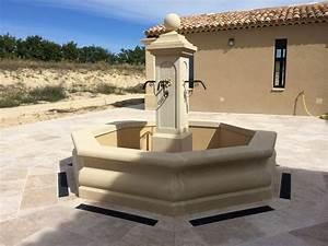 Fontaine D Exterieur En Pierre : taille d une fontaine en pierre sur mesure lourmarin ~ Premium-room.com Idées de Décoration