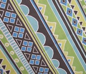 Green and Blue Aztec Tribal Pattern fabric inspirationz