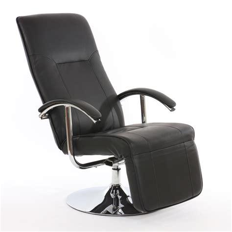 siege relaxation fauteuil de bureau noir cuir