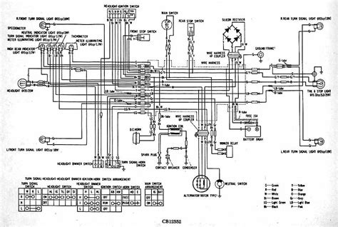 05 Honda Rubicon Wiring Diagram by 1974 Cb125 Which Wire Brings Power To The Rear Lights