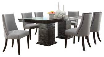 Oval Dining Room Tables With A Leaf by Homelegance Chicago 7 Piece Pedestal Dining Room Set In