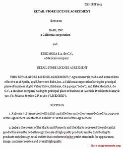 product license agreement template - retail store license agreement sample retail store