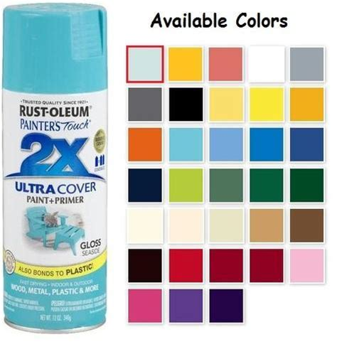rustoleum paint colors rust oleum painters touch acrylic