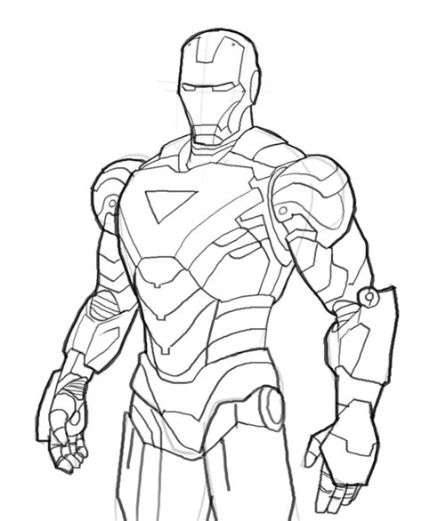 iron man cartoon drawing  getdrawingscom