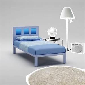 Lit Adolescent Garçon : lit gar on avec t te de lit carr bleu moretti compact so nuit ~ Dode.kayakingforconservation.com Idées de Décoration