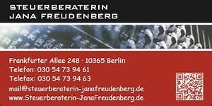 Lohnsteuerjahresausgleich Online Berechnen : jana freudenberg steuerberaterin 10365 berlin lichtenberg wegweiser aktuell ~ Themetempest.com Abrechnung