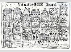 Free Advent Calendar to Color Things to Make and Do