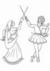 Coloring Navratri Festival Dandiya Clipart Drawing Dussehra Drawings Sketches Draw Sketch Ramayana Template Google Spirit Couple Painting Larger Credit Making sketch template