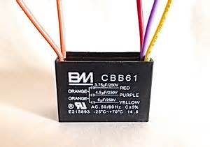 ceiling fan capacitor cbb61 3 75uf 4 5uf 6uf 5 wire ebay