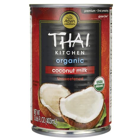 thai kitchen organic coconut milk ingredients thai kitchen organic coconut milk unsweetened 13 66 fl 9458