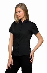 Kk736 Kustom Kit Women Bar Shirt S S Mandarin Collar G S