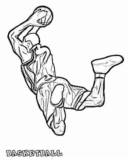 Coloring Basketball Pages Printable Nba Sheets Boys