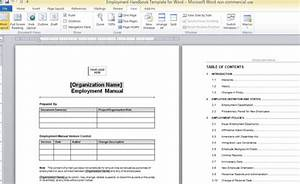 employment handbook template for word With personnel handbook template