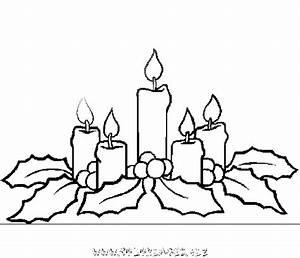 Bougie De Noel Dessin : coloriage bougies de noel gratuit 9093 noel ~ Voncanada.com Idées de Décoration