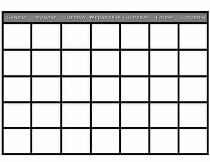 Calendar Printable Blank Monthly January Calendars Pdf