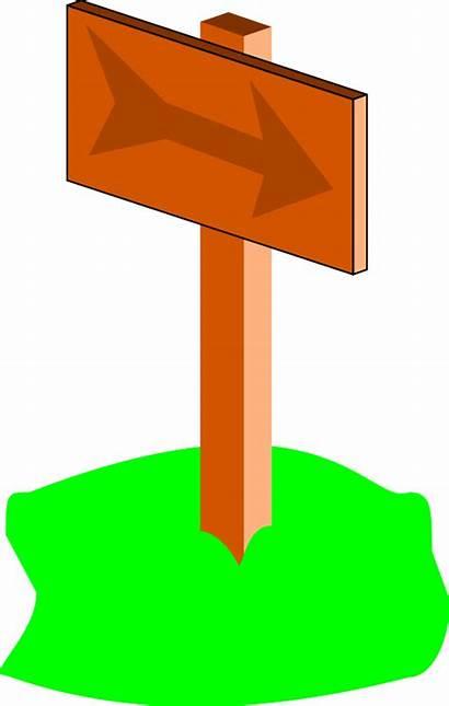 Sign Signpost Cartoon Clip Clipart Cliparts Svg