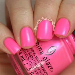 China Glaze Pink voltage Swatches and Nail Art Nailpolis