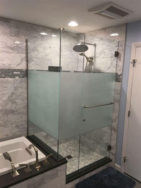 designer showers ad glass mirror