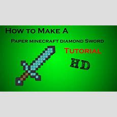 How To Make A Paper Minecraft Diamond Sword (tutorial) Youtube