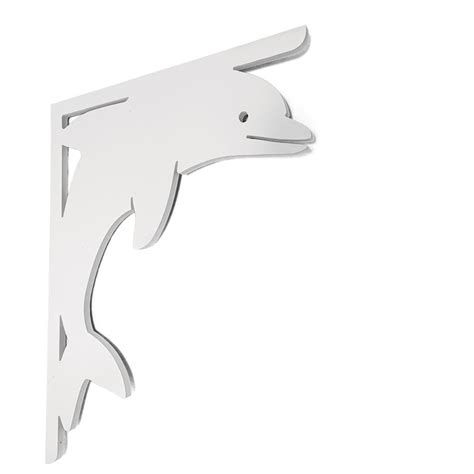 Pvc Porch Brackets by Nature Brackets Decorative 16 In Pvc Dolphin Mailbox Or