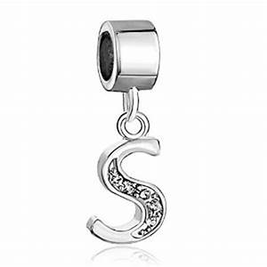 pandora letter s with crystals clip on charm With letter s pandora charm