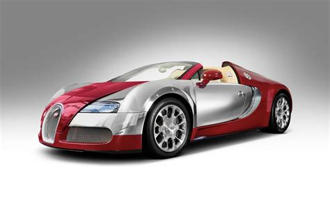 Download Wallpaper 1280x800 Bugatti Veyron Red Roadster Hd