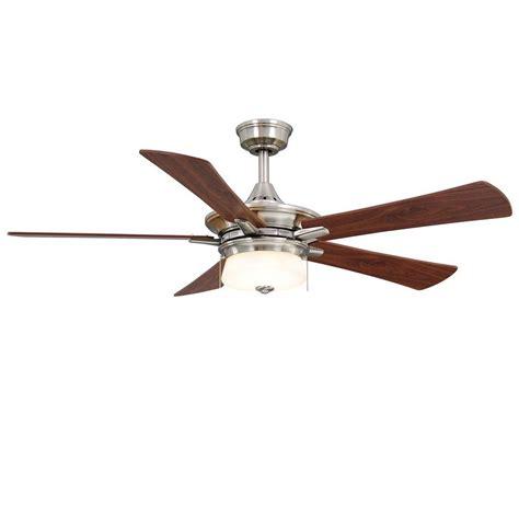 5 blade hton bay ceiling fan hton bay winthrop 52 in indoor brushed nickel ceiling