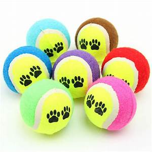 Practical Cute Pet Supplies Funny Dog Chew Toy Tennis Ball ...