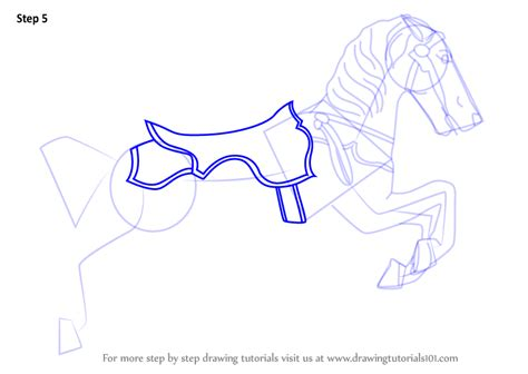 learn   draw carousel horse everyday objects step