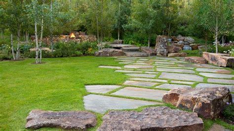 idea camino caminos preciosos en jardines con c 233 sped 37 ideas