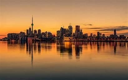 Toronto Canada 4k Wallpapers Skyline Desktop Backgrounds