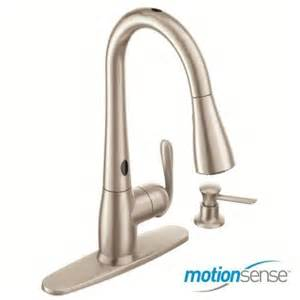 touchless kitchen faucets moen haysfield single handle pull sprayer kitchen