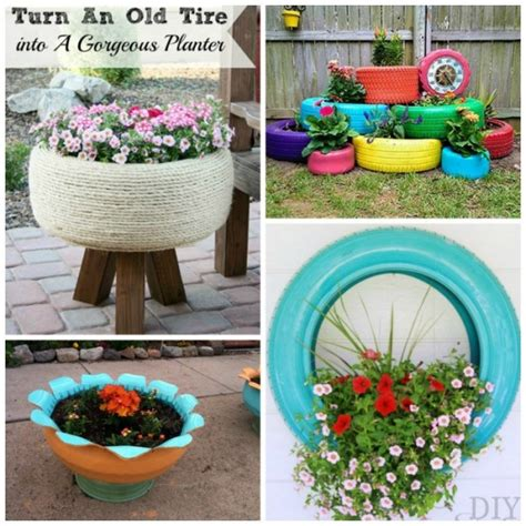 tire planters for 17 ways to reuse tires ted s